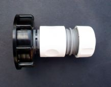 "IBC ADAPTER to 3/4"" Snap-On / Push Fit Connector c/w 3/4"" Female Hose Connector"